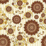 Textile Seamless pattern design for woman wears.  Stock Image