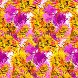 Textile seamless pattern of flowers with texture Royalty Free Stock Photo
