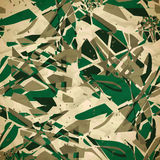 Textile seamless pattern of green abstract explosions Stock Images