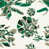 Textile seamless pattern of green abstract explosions Royalty Free Stock Image