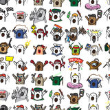 Textile seamless pattern of internet memes Nichosi Royalty Free Stock Photography