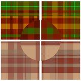 Textile seamless pattern set Stock Images