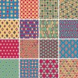 Textile seamless pattern SET No.3 Stock Photos
