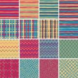 Textile seamless pattern SET No.2 Stock Images