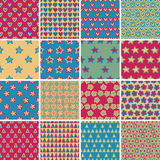 Textile seamless pattern SET No.4 Stock Image
