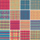 Textile seamless pattern SET No.6 Royalty Free Stock Image