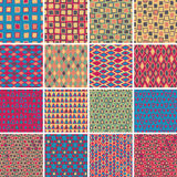 Textile seamless pattern SET No.7 Stock Images