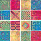 Textile seamless pattern SET No.8 Royalty Free Stock Image
