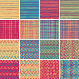 Textile seamless pattern SET No.1 Stock Photography