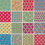 Textile seamless pattern SET No.9 Royalty Free Stock Photos