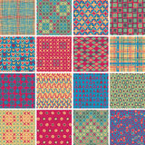 Textile seamless pattern SET No.10 Stock Photos