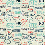 Textile seamless pattern on the topic of Internet communication Royalty Free Stock Photography