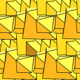 Textile seamless pattern of yellow triangles in warm colors Stock Photography