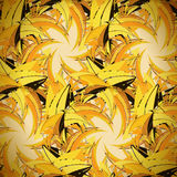 Textile seamless pattern of yellow triangles in warm colors Royalty Free Stock Photos