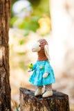 Textile sheep handmade Stock Photo