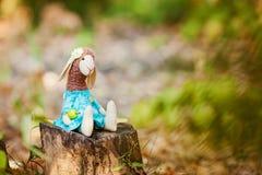 Textile sheep handmade Stock Photography