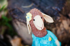 Textile sheep handmade Royalty Free Stock Images
