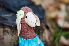 Textile sheep handmade Royalty Free Stock Photography