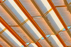 Textile shelter from the weather Stock Images