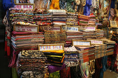 Textile shop in Turkey Royalty Free Stock Photography
