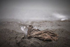 Textile on the shore Royalty Free Stock Photo