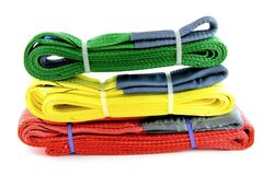 Textile slings Royalty Free Stock Image