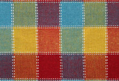 Textile with square pattern Royalty Free Stock Images