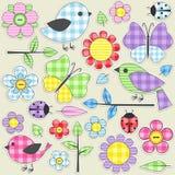 Textile stickers Stock Photos