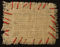 Textile  stitched note Royalty Free Stock Photography
