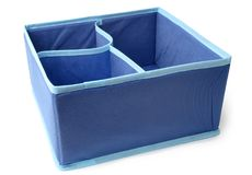 Textile storage box. On white background stock image