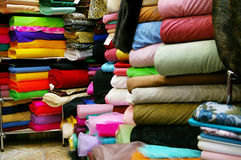 Textile store Stock Images
