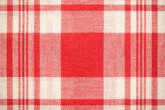 Textile surface. Red and white cloth texture Stock Photos