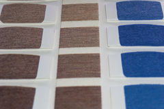 Textile swatch color Royalty Free Stock Images
