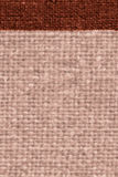 Textile tablecloth, fabric element, coffee canvas, cover material, close-up background Royalty Free Stock Image