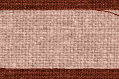 Textile tablecloth, fabric products, khaki canvas, nature material, art background Stock Photo