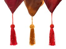 Textile and tassels Stock Images