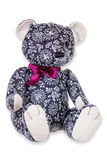 Textile teddy on white background Stock Photography