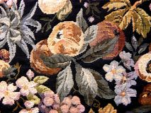 A textile texture. A colored textile fruit texture Stock Photos
