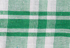 Textile texture in green stripes. Royalty Free Stock Photography