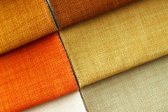 Textile texture. Orange and yellow colors Royalty Free Stock Image