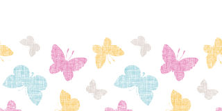 Textile textured colorful butterflies horizontal Royalty Free Stock Image