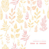 Textile textured fall leaves frame corner pattern Stock Photo