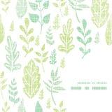 Textile textured spring leaves frame corner Stock Image