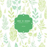 Textile textured spring leaves frame seamless Stock Photography