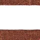 Textile thread, fabric image, cinnamon canvas, worn material, vintage background Stock Photos