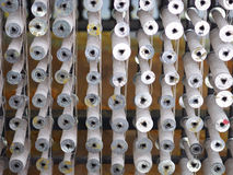 Textile threads industry spoon close up Royalty Free Stock Photo