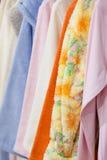 Textile towels and bath accessories shop Stock Image