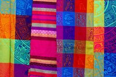 Textile traditionnel mexicain images stock