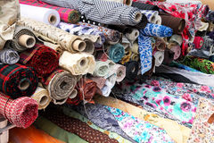 Textile tubes Stock Photos