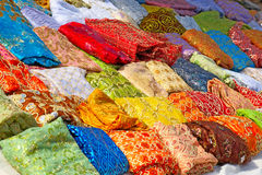Textile in tunisian market Royalty Free Stock Photography